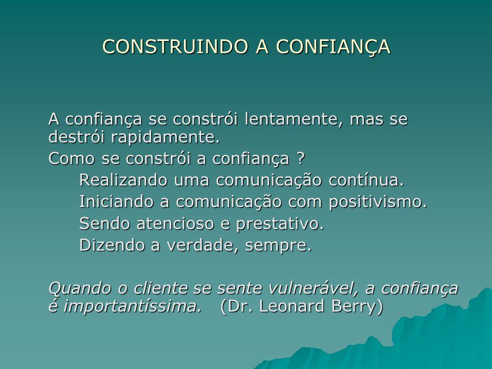 CONSTRUINDO A CONFIANÇA