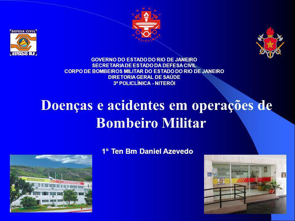 Doenças e acidentes em operações de Bombeiro Militar
