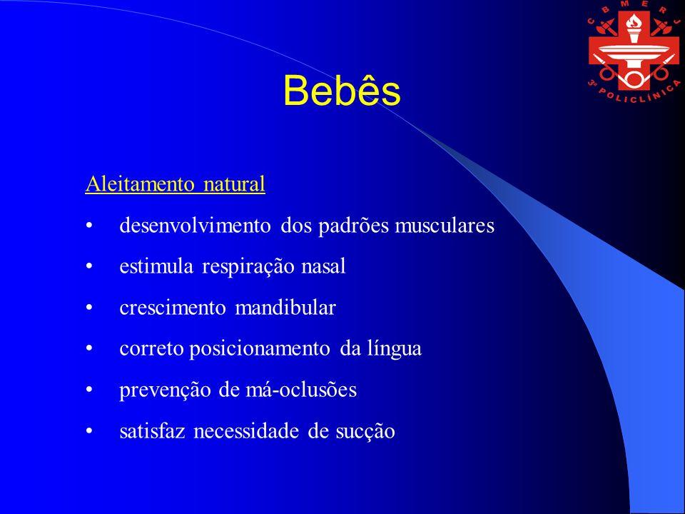 Bebês Aleitamento natural desenvolvimento dos padrões musculares