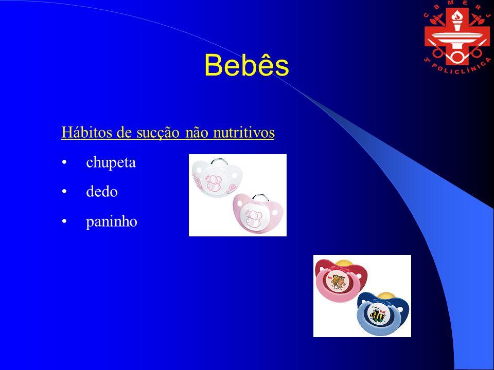 Bebês Hábitos de sucção não nutritivos chupeta dedo paninho