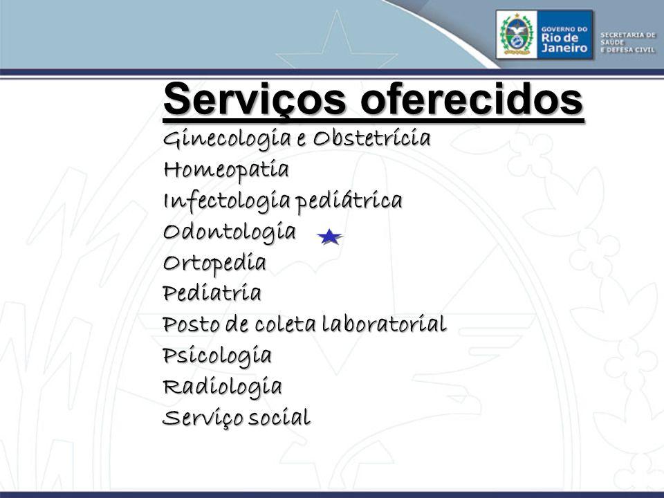 Serviços oferecidos Ginecologia e Obstetrícia Homeopatia