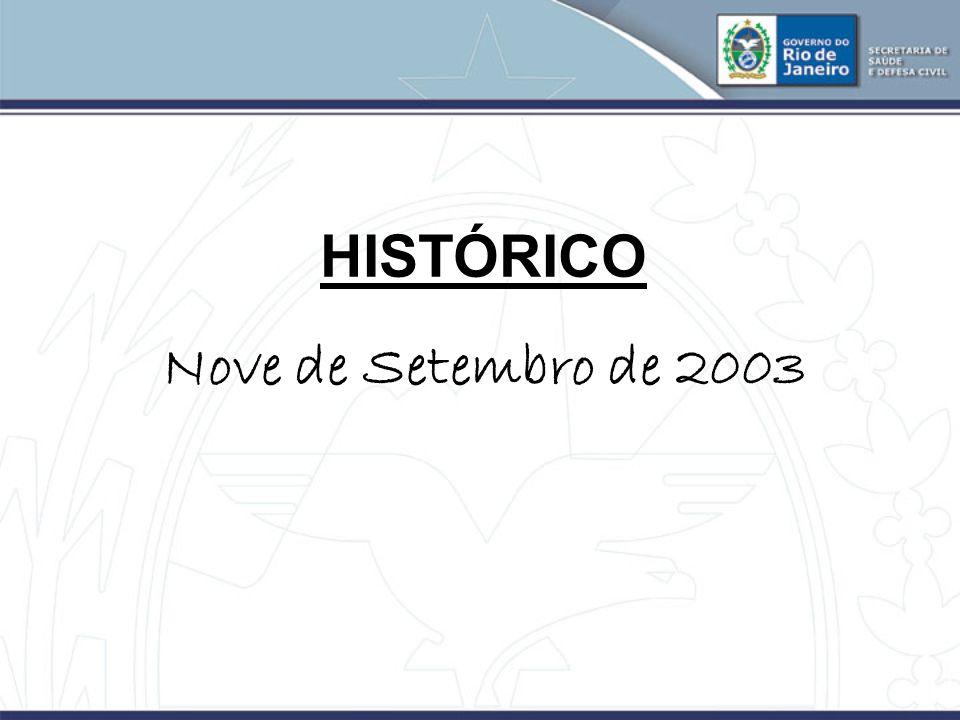 HISTÓRICO Nove de Setembro de 2003