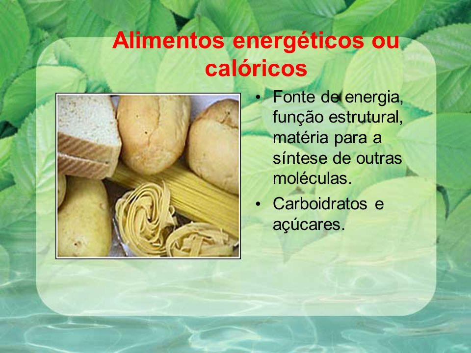 Alimentos energéticos ou calóricos