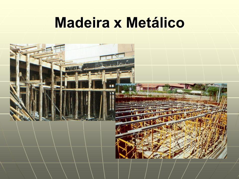 Madeira x Metálico