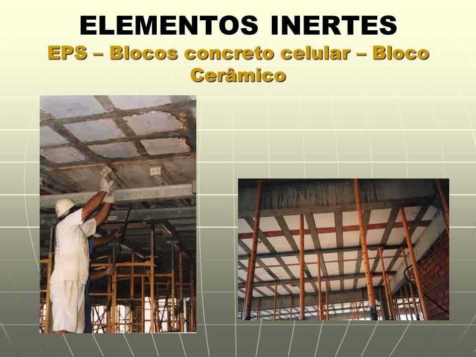 ELEMENTOS INERTES EPS – Blocos concreto celular – Bloco Cerâmico