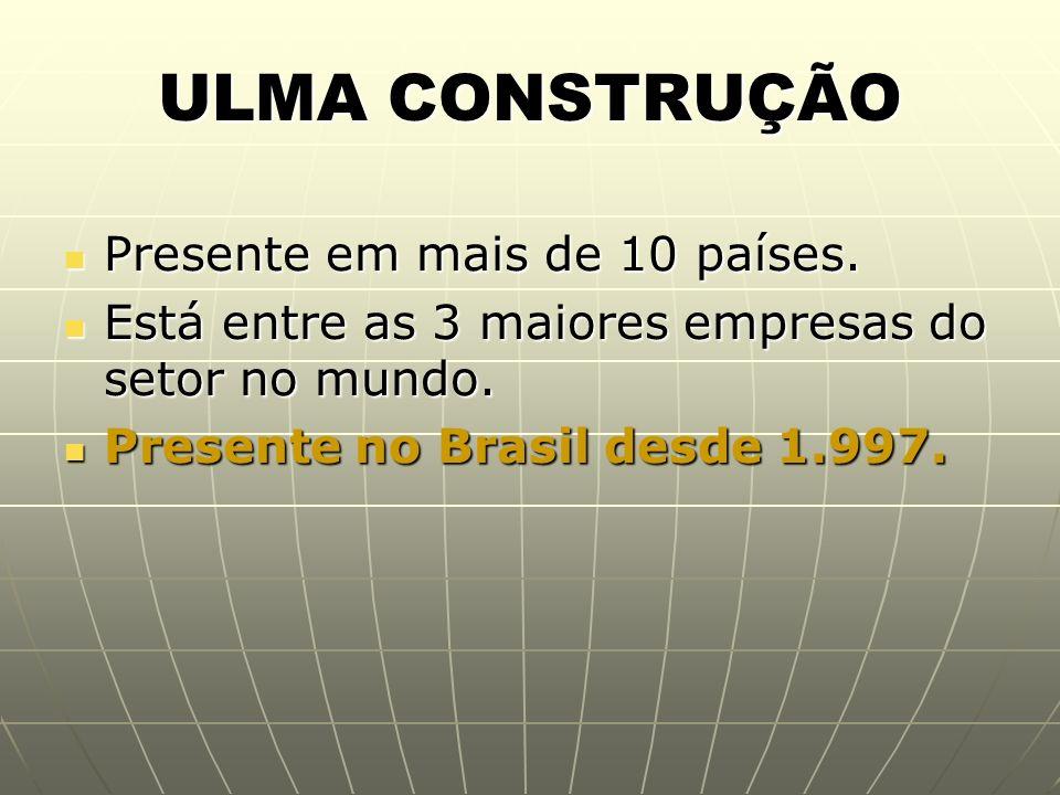 ULMA CONSTRUÇÃO Presente em mais de 10 países.
