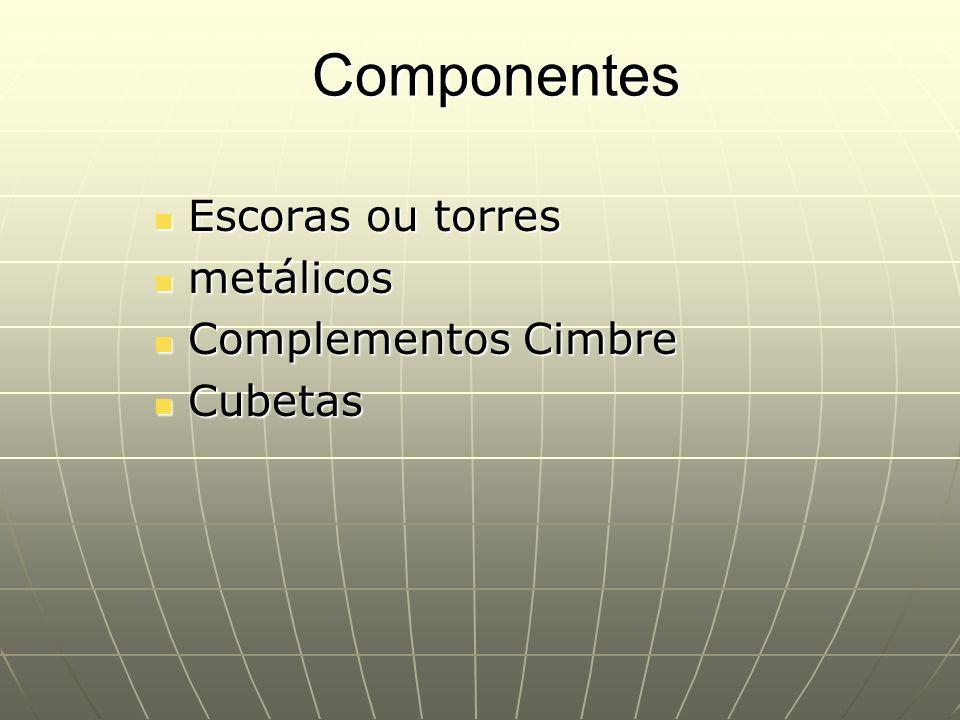 Escoras ou torres metálicos Complementos Cimbre Cubetas