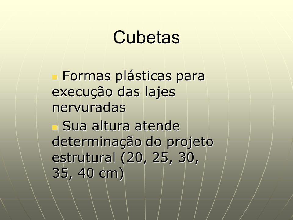 Cubetas Formas plásticas para execução das lajes nervuradas