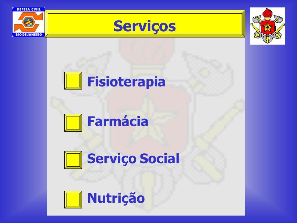 Serviços Fisioterapia Farmácia Serviço Social Nutrição