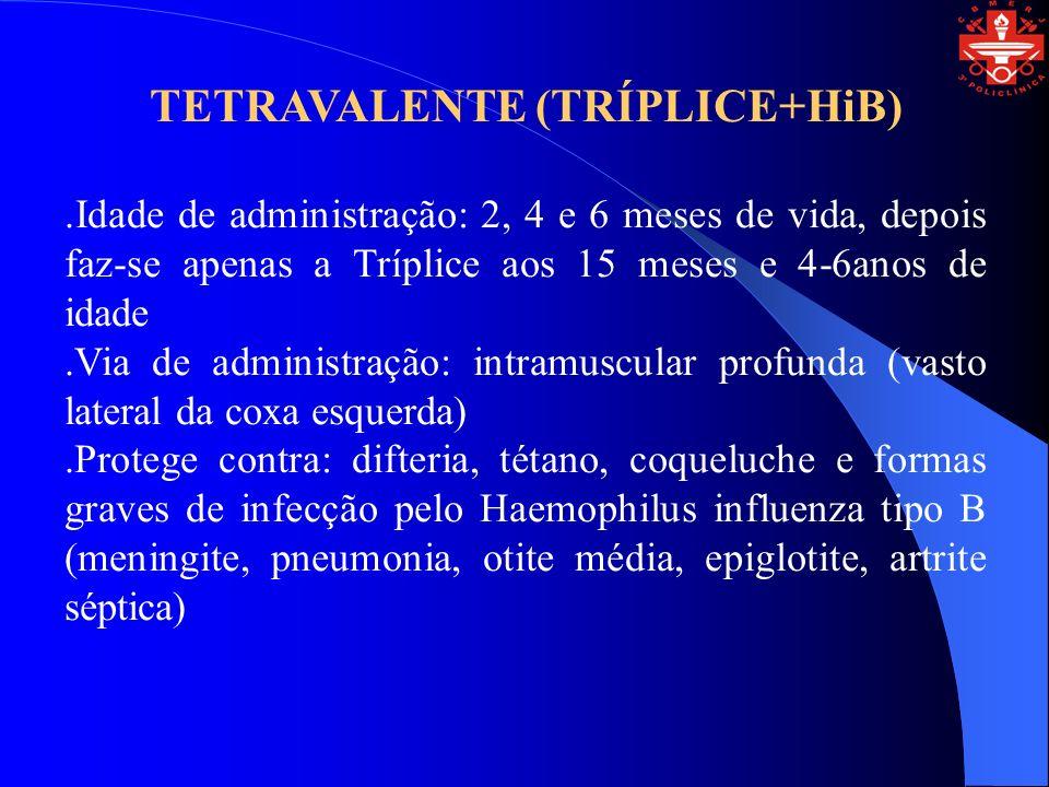 TETRAVALENTE (TRÍPLICE+HiB)