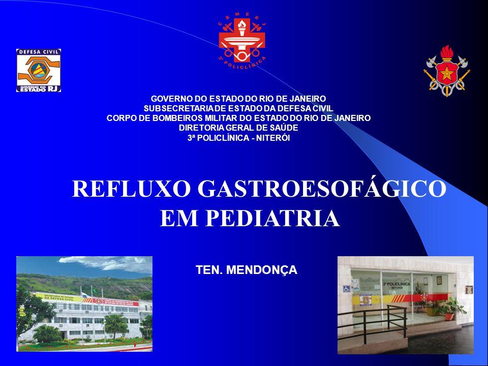 REFLUXO GASTROESOFÁGICO EM PEDIATRIA