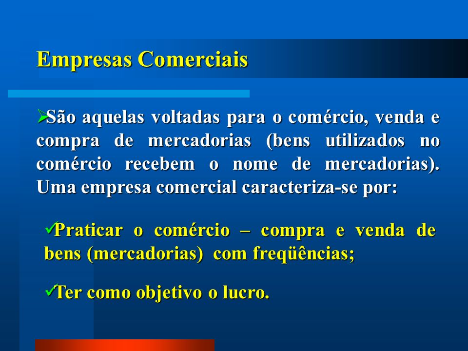 Empresas Comerciais