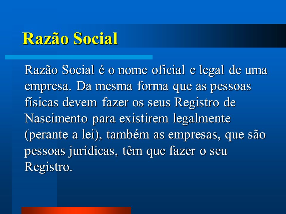 Razão Social