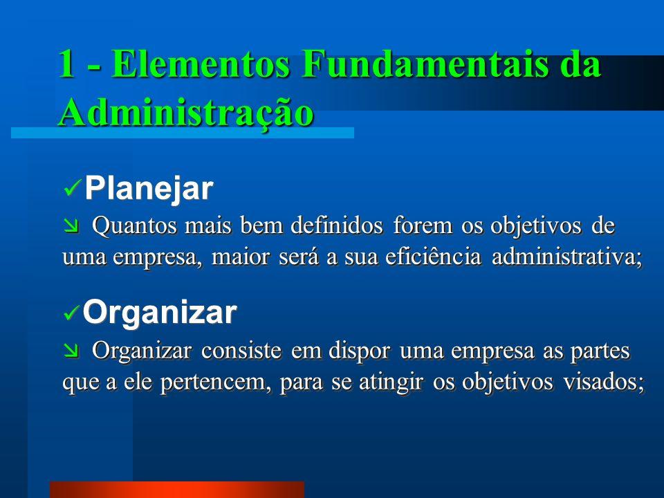 1 - Elementos Fundamentais da Administração