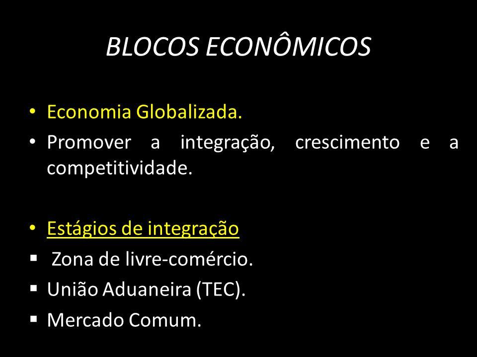 BLOCOS ECONÔMICOS Economia Globalizada.