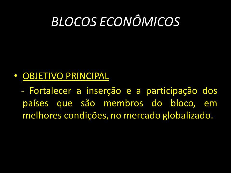 BLOCOS ECONÔMICOS OBJETIVO PRINCIPAL