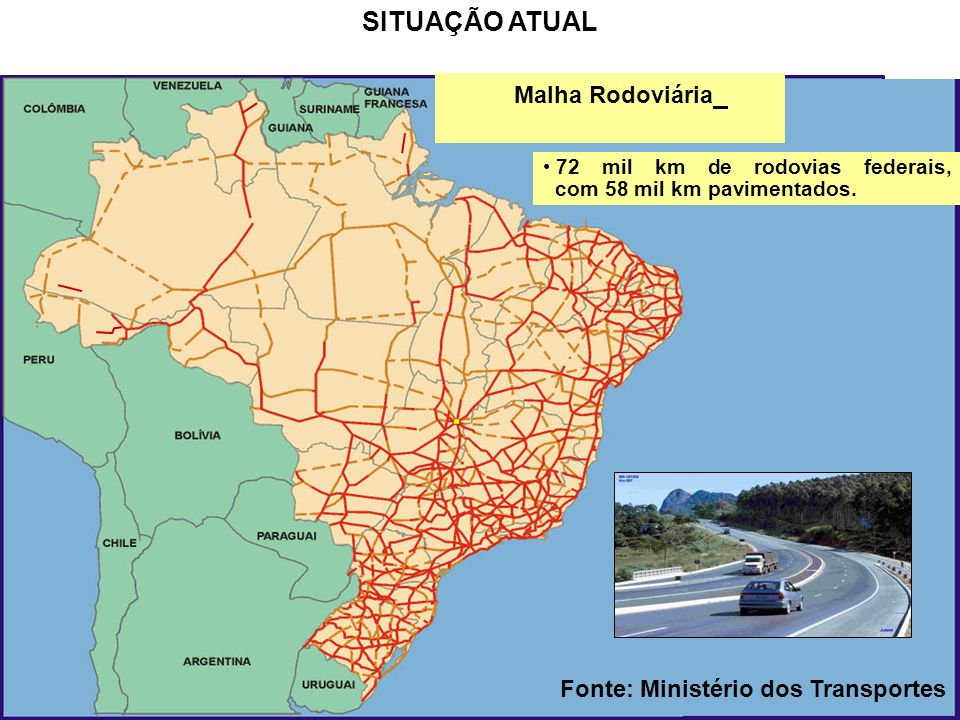 Fonte: Ministério dos Transportes