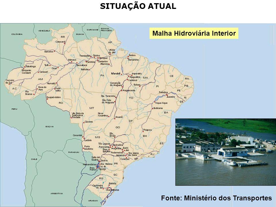 Malha Hidroviária Interior Fonte: Ministério dos Transportes