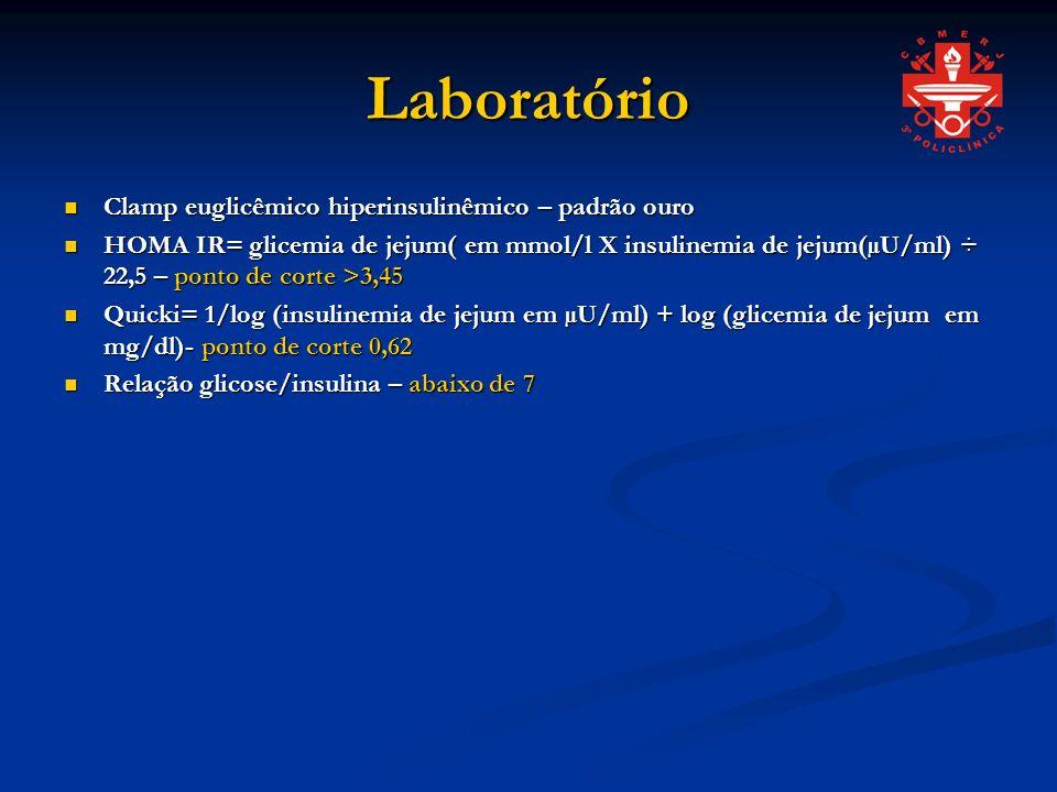 Laboratório Clamp euglicêmico hiperinsulinêmico – padrão ouro