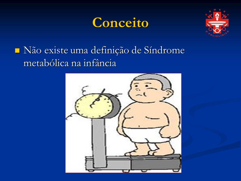 Conceito Não existe uma definição de Síndrome metabólica na infância
