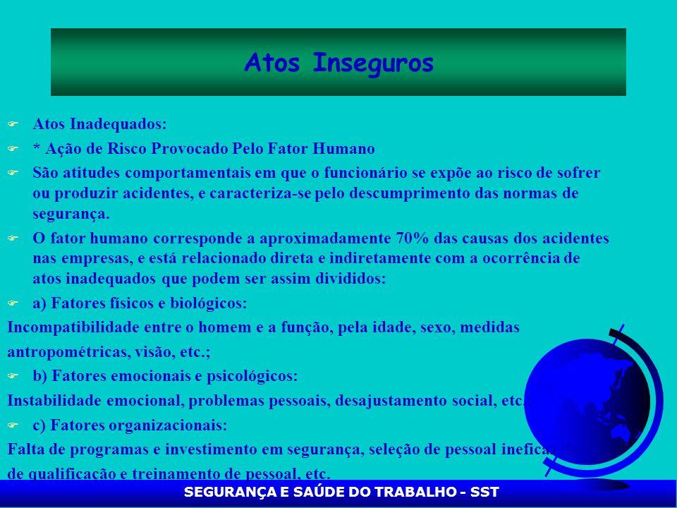 SEGURANÇA E SAÚDE DO TRABALHO - SST