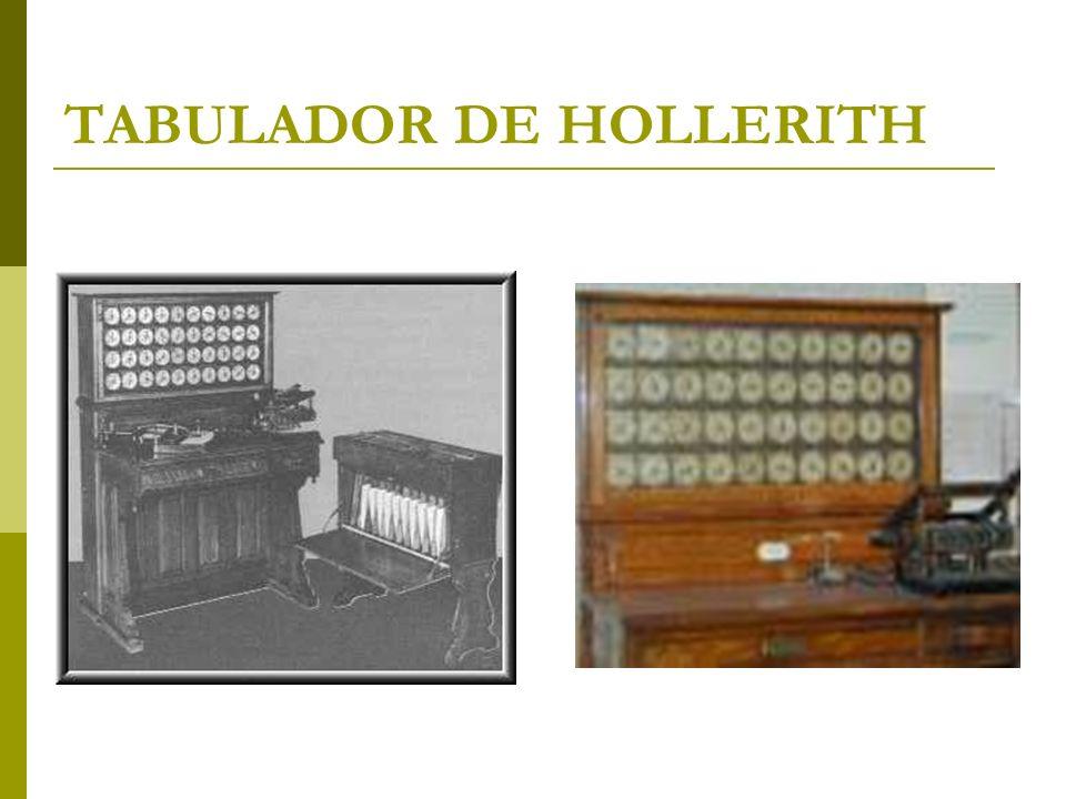 TABULADOR DE HOLLERITH