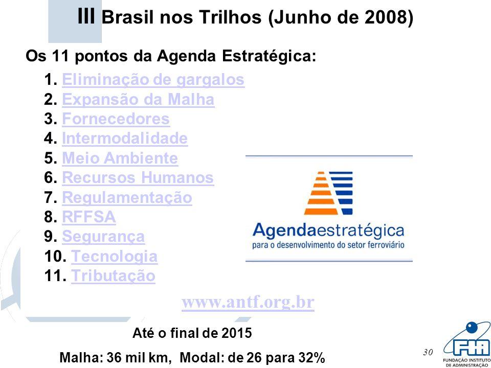 III Brasil nos Trilhos (Junho de 2008)