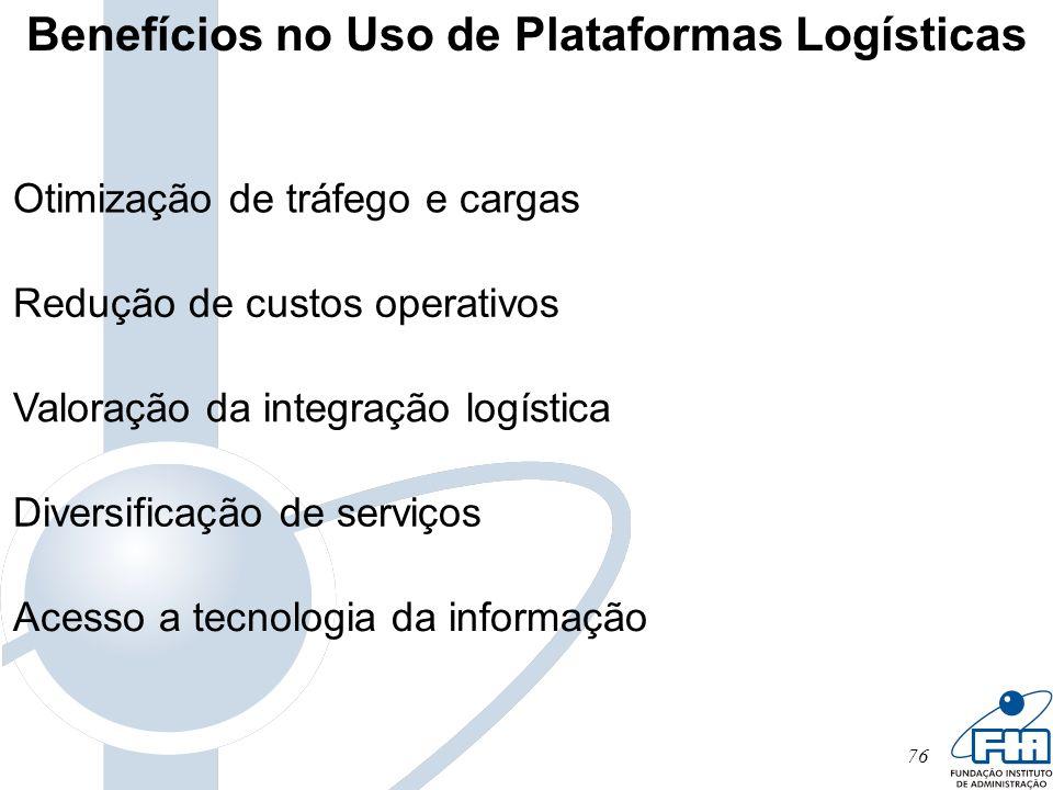 Benefícios no Uso de Plataformas Logísticas