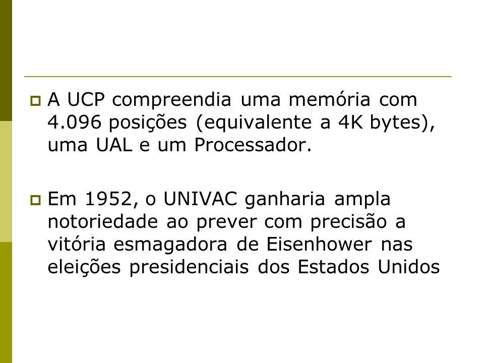 A UCP compreendia uma memória com 4