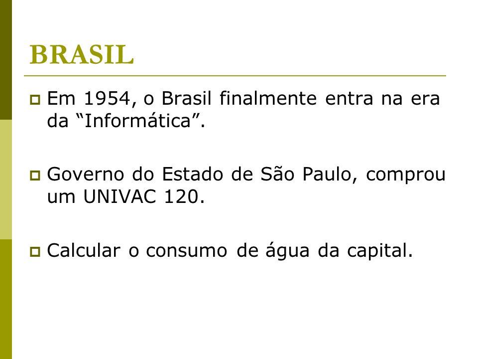 BRASIL Em 1954, o Brasil finalmente entra na era da Informática .