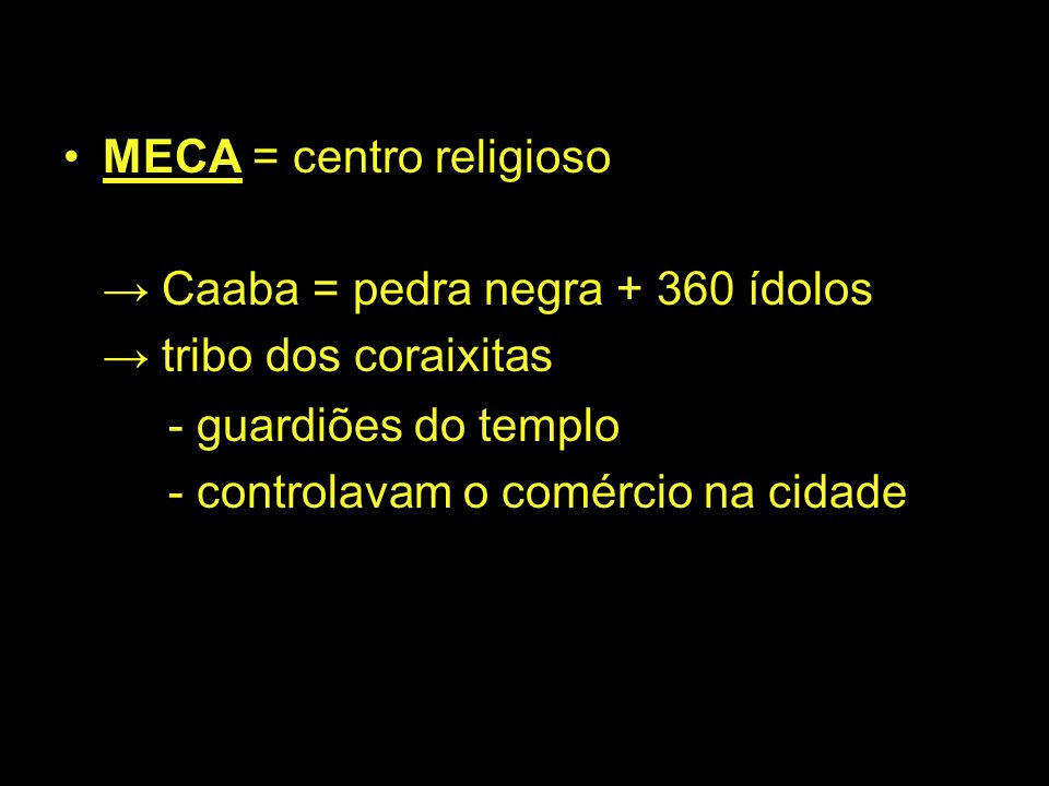 MECA = centro religioso