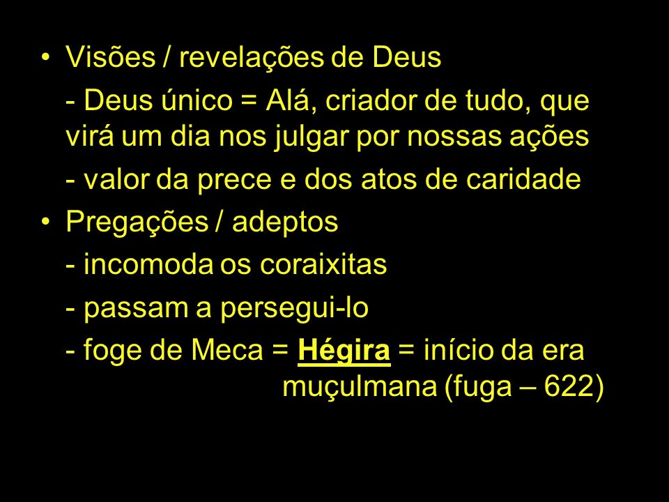 Visões / revelações de Deus