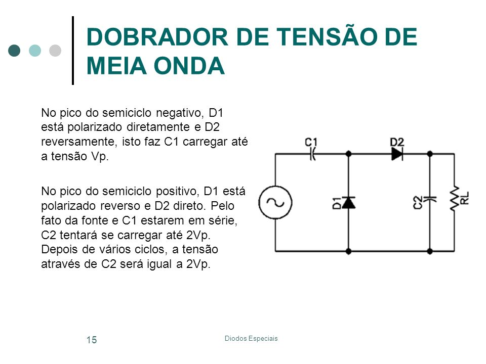 DOBRADOR DE TENSÃO DE MEIA ONDA