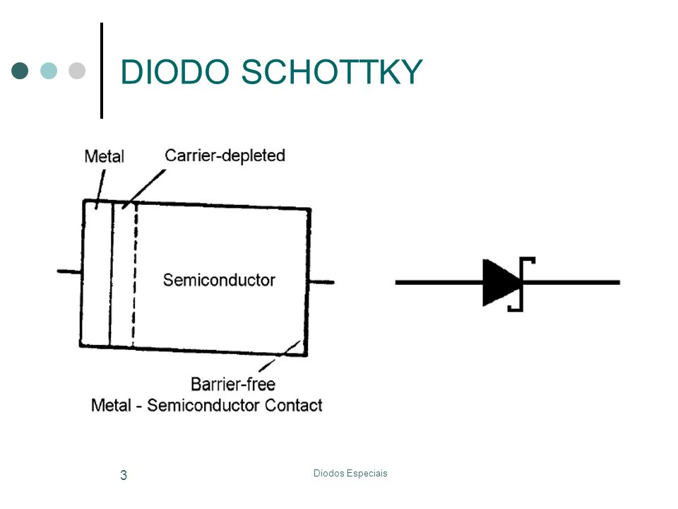 DIODO SCHOTTKY Diodos Especiais