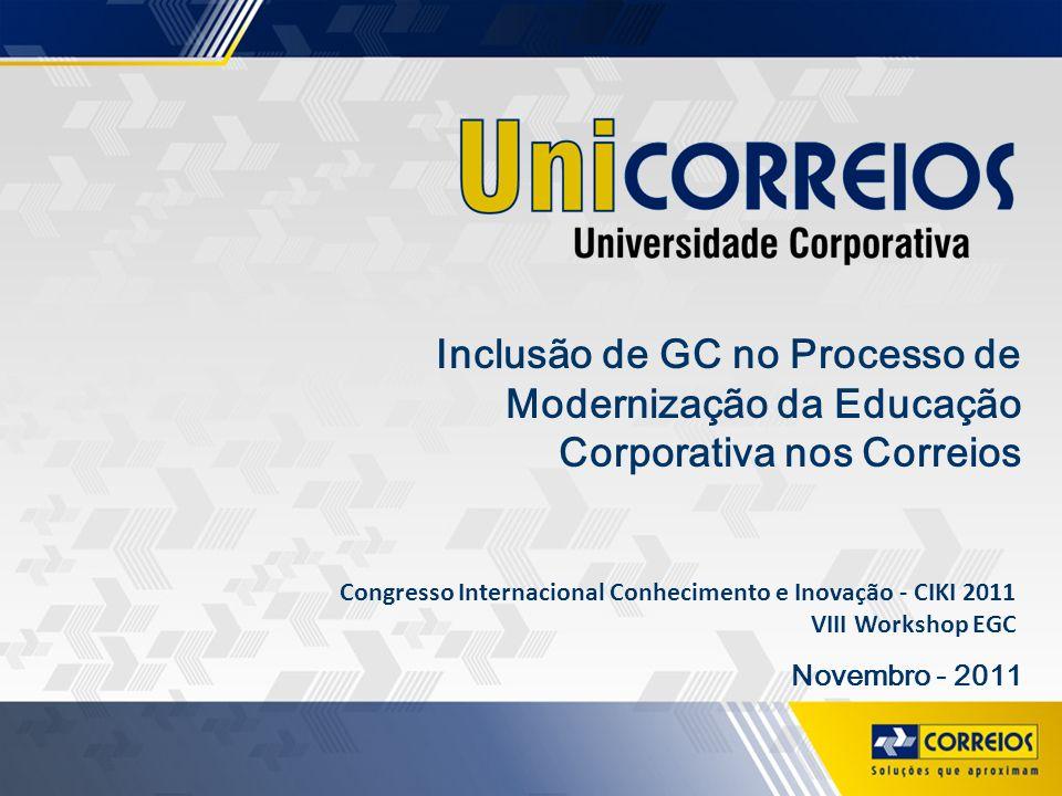 Inclusão de GC no Processo de Modernização da Educação Corporativa nos Correios