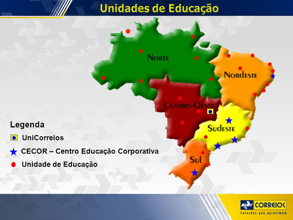 Unidades de Educação Legenda UniCorreios
