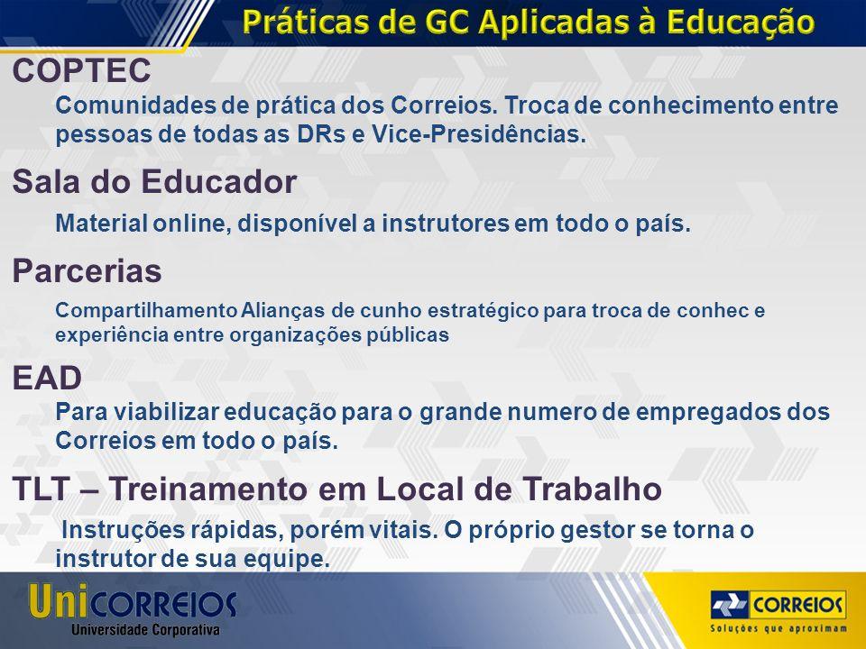 Práticas de GC Aplicadas à Educação