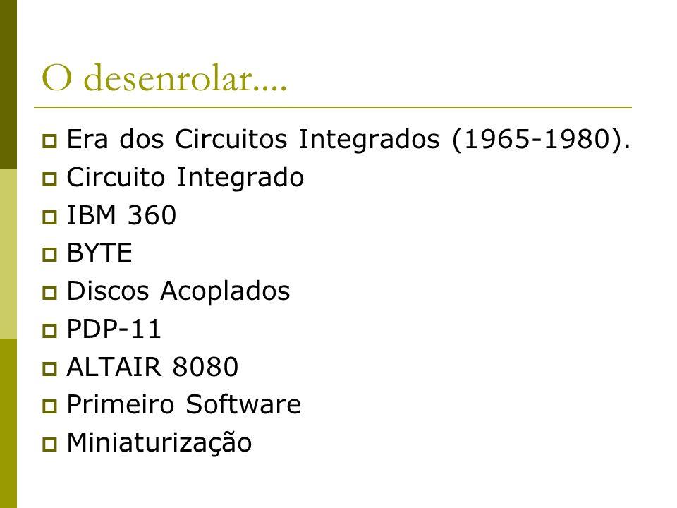O desenrolar.... Era dos Circuitos Integrados (1965-1980).