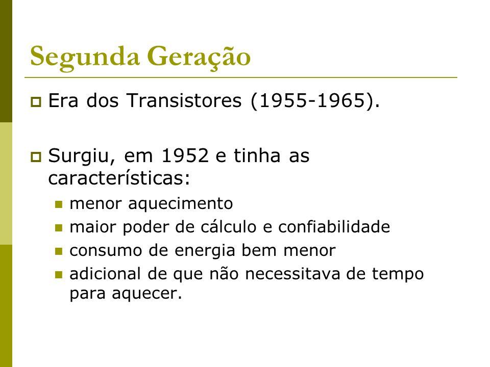 Segunda Geração Era dos Transistores (1955-1965).