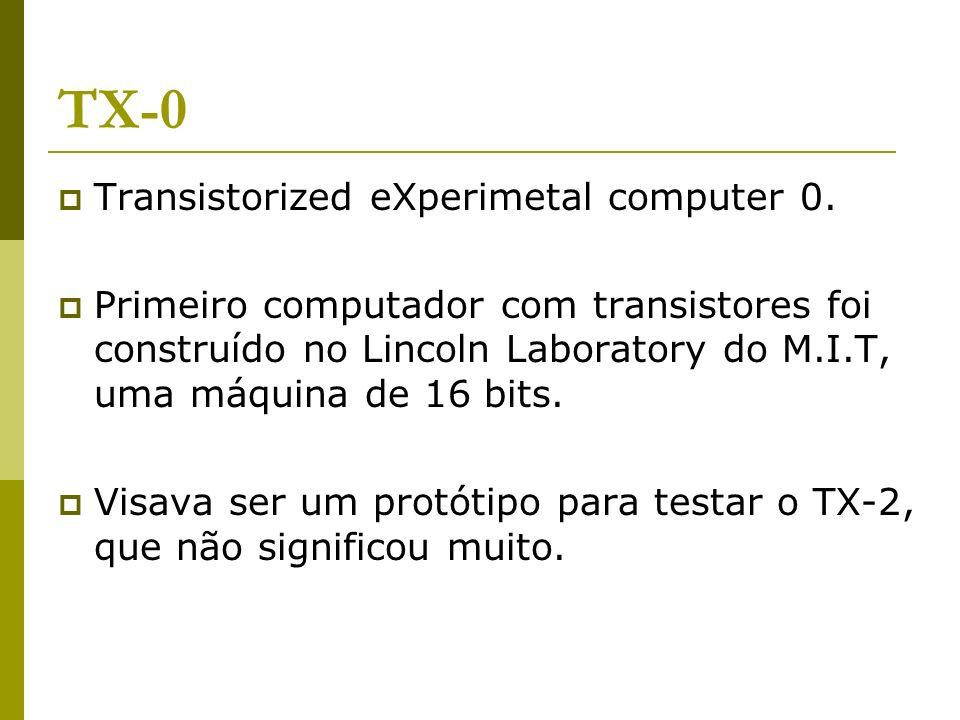 TX-0 Transistorized eXperimetal computer 0.