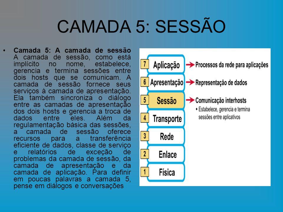 CAMADA 5: SESSÃO