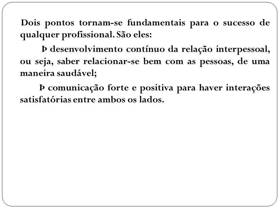 Dois pontos tornam-se fundamentais para o sucesso de qualquer profissional. São eles: