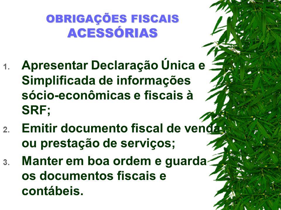 OBRIGAÇÕES FISCAIS ACESSÓRIAS