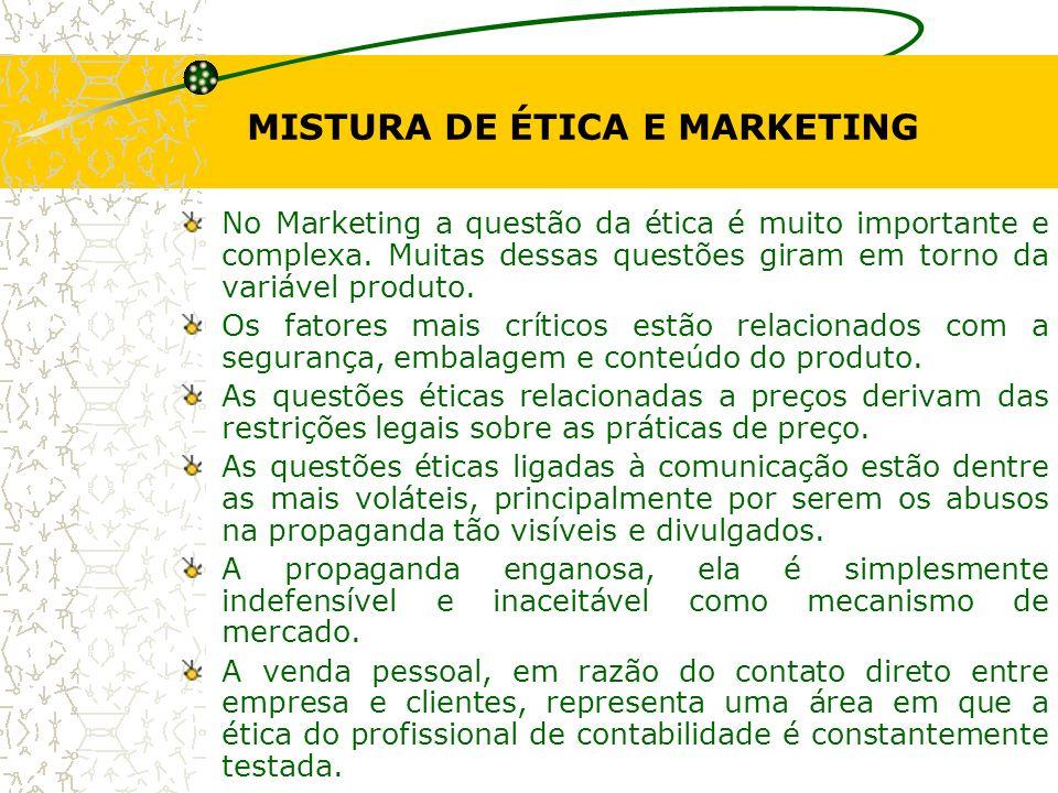 MISTURA DE ÉTICA E MARKETING