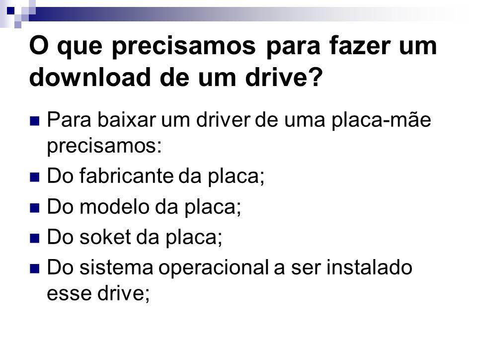 O que precisamos para fazer um download de um drive