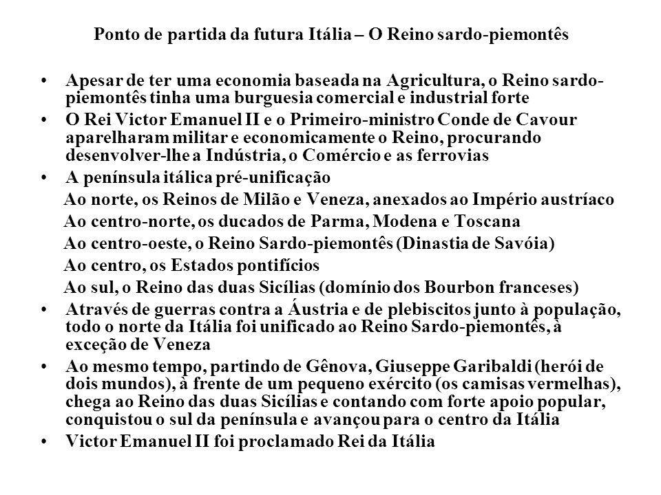 Ponto de partida da futura Itália – O Reino sardo-piemontês