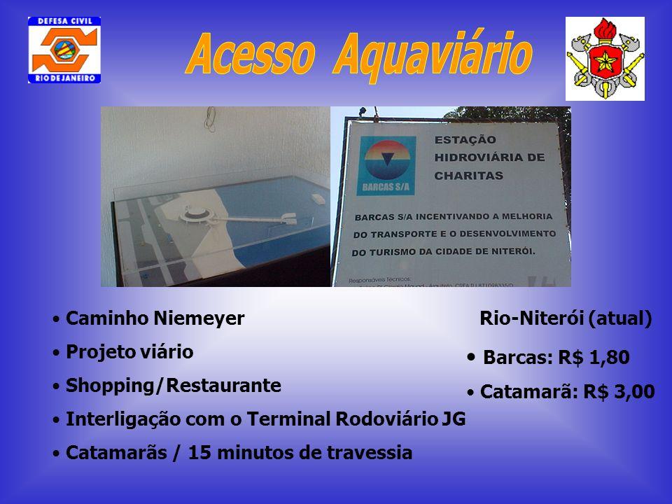 Acesso Aquaviário Barcas: R$ 1,80 Caminho Niemeyer Projeto viário