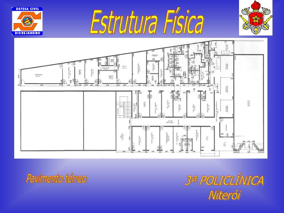 Estrutura Física Pavimento térreo 3ª POLICLÍNICA Niterói