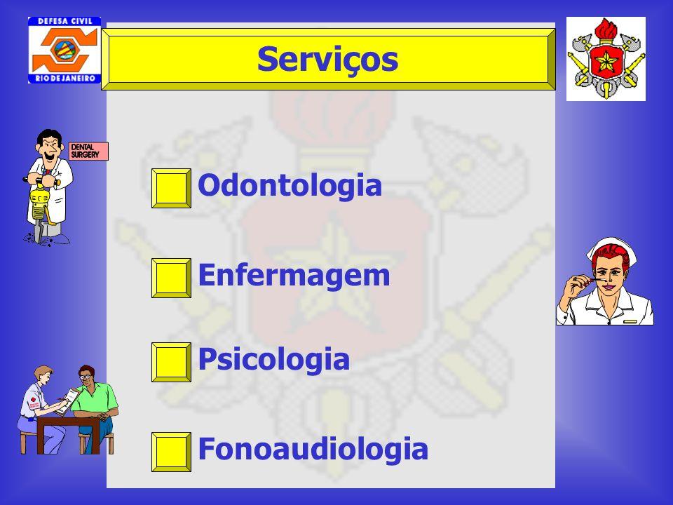 Serviços Odontologia Enfermagem Psicologia Fonoaudiologia