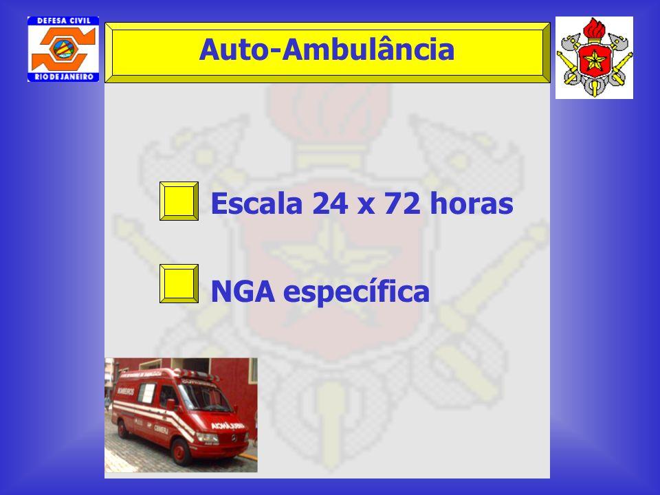 Auto-Ambulância Escala 24 x 72 horas NGA específica